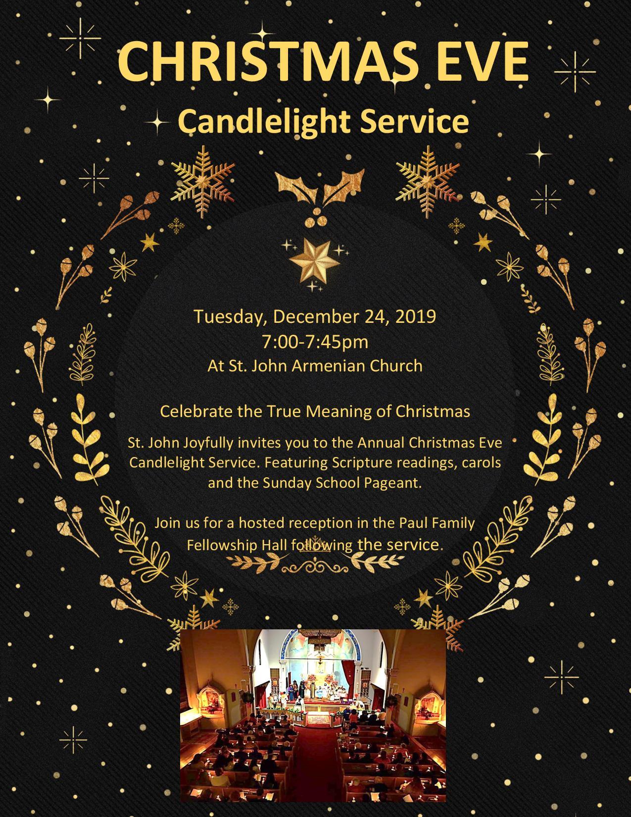 St Johns Christmas Pageant 2020 Christmas Eve Candlelight Service | St. John Armenian Apostolic Church