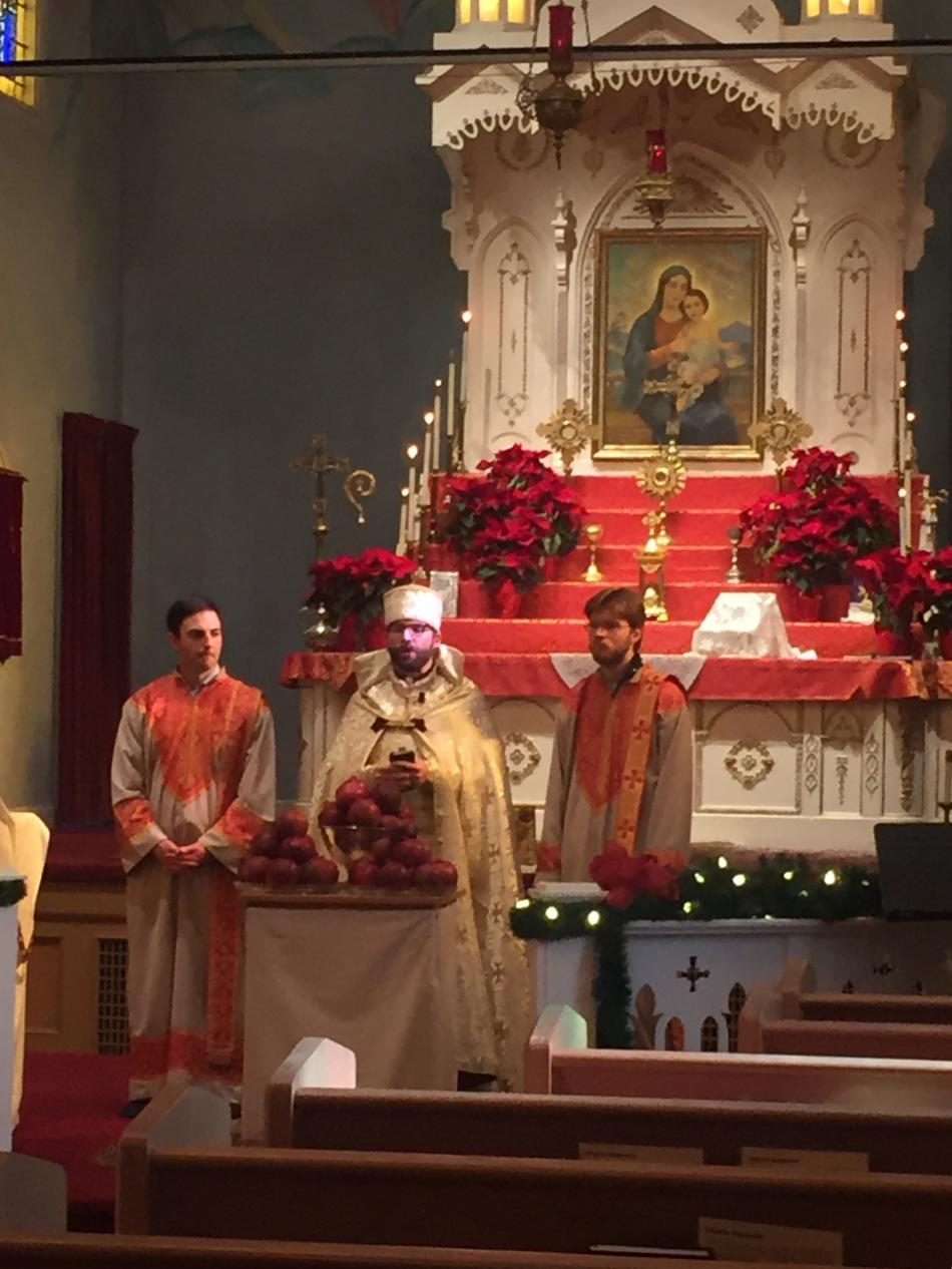 Blessing Of Pomegranates Rings In The New Year St John Armenian