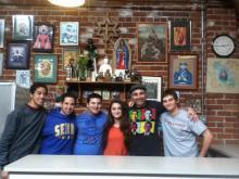 Our ACYO members at the Martin De Porres Soup Kitchen with sDn. Arto Bedikian