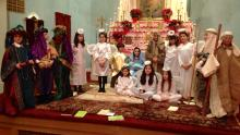 Our children arrayed in the Nativity of Christ